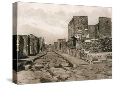 Tempio Della Fortuna, Pompeii, Italy, C1900s--Stretched Canvas Print