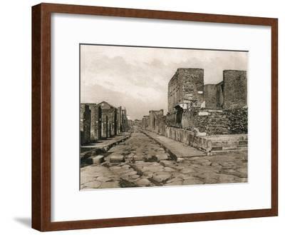 Tempio Della Fortuna, Pompeii, Italy, C1900s--Framed Giclee Print