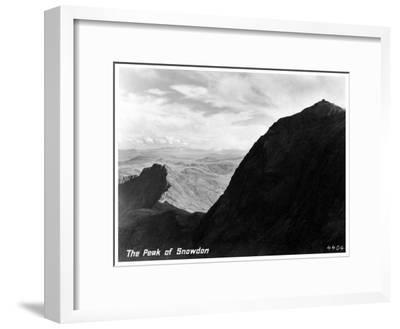 The Peak of Snowdon, Wales--Framed Giclee Print
