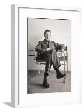 Marcel Breuer in the Wassily Chair, 1926--Framed Giclee Print