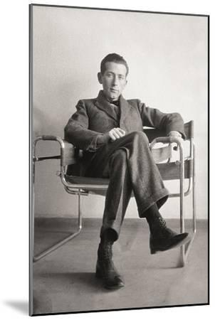 Marcel Breuer in the Wassily Chair, 1926--Mounted Giclee Print