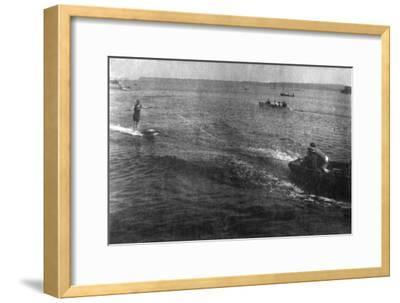Water Skiing, 20th Century--Framed Giclee Print