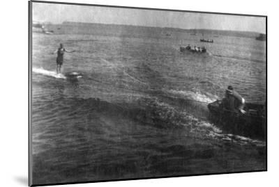 Water Skiing, 20th Century--Mounted Giclee Print