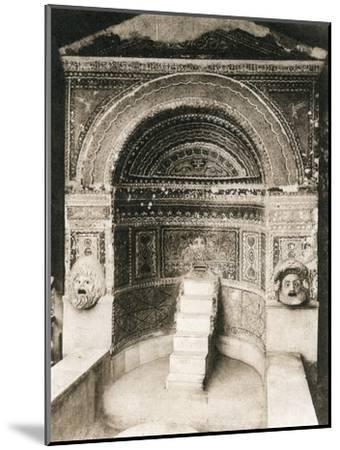 Grande Fontana, Pompeii, Italy, C1900s--Mounted Giclee Print