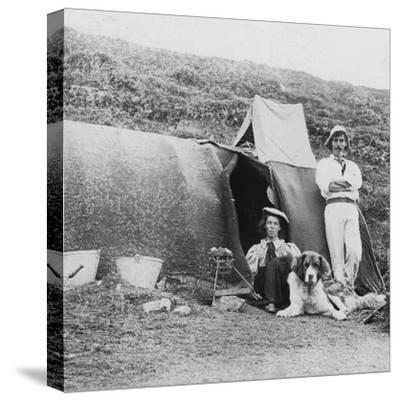 Camping, Early 20th Century--Stretched Canvas Print