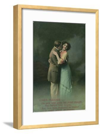 Vintage Romantic Poatcard--Framed Giclee Print