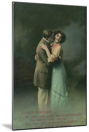 Vintage Romantic Poatcard--Mounted Giclee Print