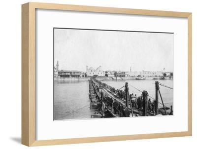 Kotah Boat Bridge, Baghdad, Iraq, 1917-1919--Framed Giclee Print