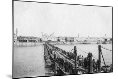 Kotah Boat Bridge, Baghdad, Iraq, 1917-1919--Mounted Giclee Print