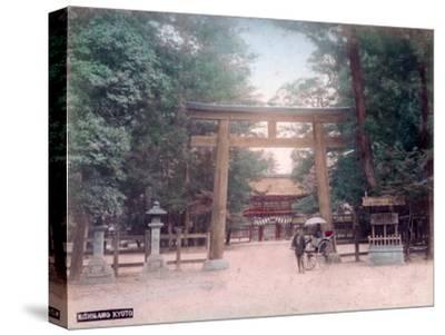 Torii, Shrine Gate, Nishigamo, Kyoto, Japan--Stretched Canvas Print