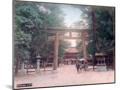 Torii, Shrine Gate, Nishigamo, Kyoto, Japan--Mounted Giclee Print