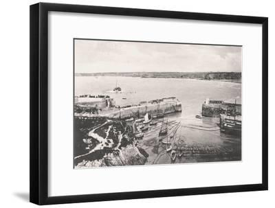 Newquay Harbour, Newquay, Cornwall, 1908--Framed Giclee Print
