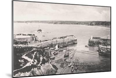 Newquay Harbour, Newquay, Cornwall, 1908--Mounted Giclee Print