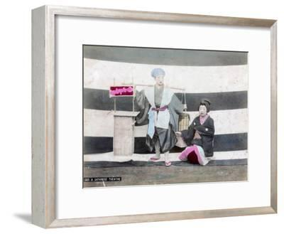 A Japanese Theatre--Framed Giclee Print