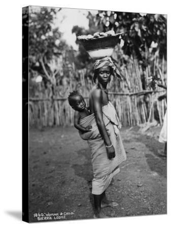 Woman and Child, Sierra Leone, 20th Century--Stretched Canvas Print