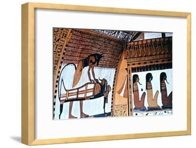 Chapel Interior, Anubis, Thebes, Egypt--Framed Giclee Print