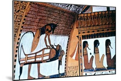 Chapel Interior, Anubis, Thebes, Egypt--Mounted Giclee Print