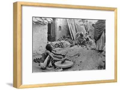 A Potter at Work, India, 20th Century--Framed Giclee Print