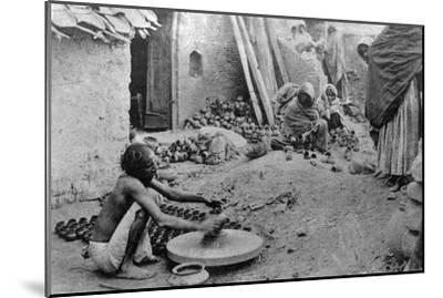 A Potter at Work, India, 20th Century--Mounted Giclee Print