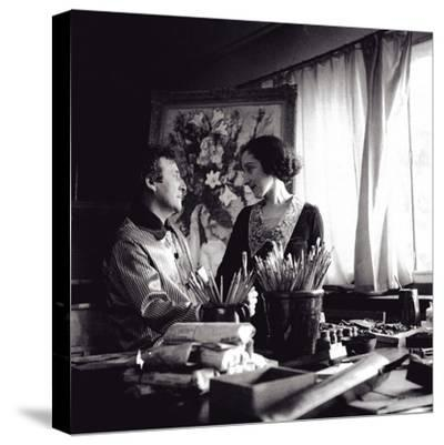 Marc and Bella Chagall, August 1934, Paris, 1934--Stretched Canvas Print