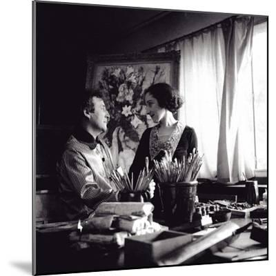 Marc and Bella Chagall, August 1934, Paris, 1934--Mounted Giclee Print