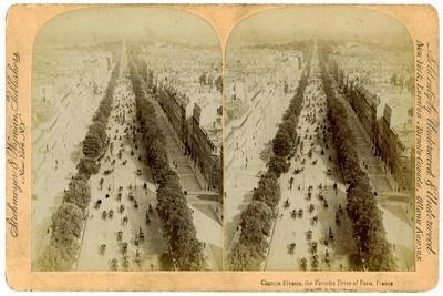 The Champs Elysees, Paris, France, 1894-Underwood & Underwood-Framed Giclee Print