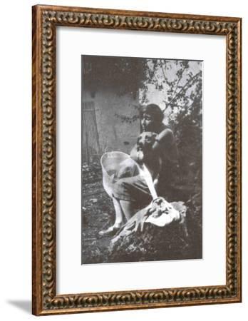 Marina Tsvetaeva with Her Dog, Savoy, 1930--Framed Giclee Print