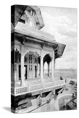 Samman Burj Balcony at Agra Fort, 20th Century--Stretched Canvas Print