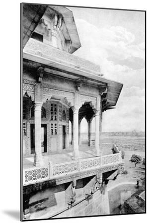 Samman Burj Balcony at Agra Fort, 20th Century--Mounted Giclee Print