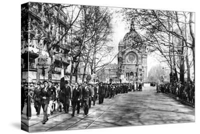Commemorating Joan of Arc at the Church of St Augustin, Paris, 1931-Ernest Flammarion-Stretched Canvas Print