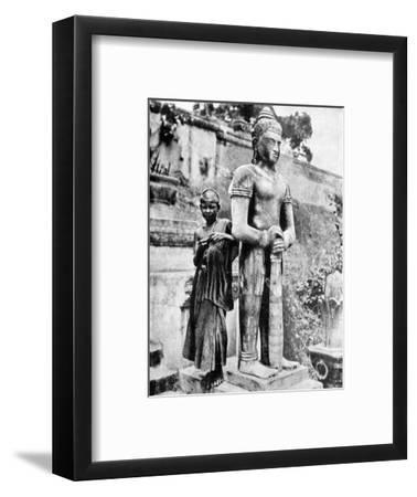 Youthful Devotee of the Great Buddha, 1936-Ewing Galloway-Framed Premium Giclee Print