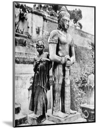 Youthful Devotee of the Great Buddha, 1936-Ewing Galloway-Mounted Premium Giclee Print