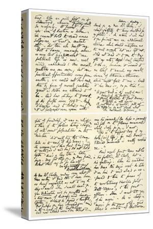 Letter from Elizabeth Barrett Browning to Henry F Chorley, 1859-Elizabeth Barrett-Stretched Canvas Print
