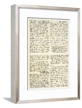 Letter from Elizabeth Barrett Browning to Henry F Chorley, 1859-Elizabeth Barrett-Framed Giclee Print