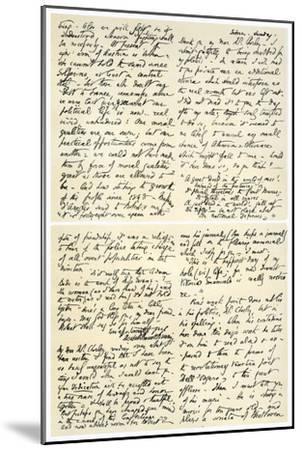 Letter from Elizabeth Barrett Browning to Henry F Chorley, 1859-Elizabeth Barrett-Mounted Giclee Print