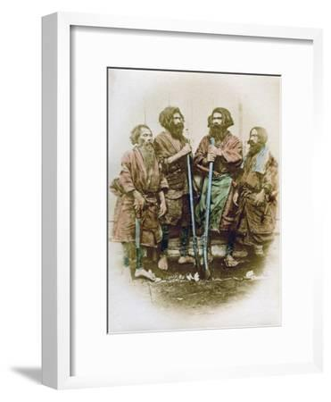 Group of Ainu People, Japan, 1882-Felice Beato-Framed Giclee Print