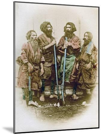 Group of Ainu People, Japan, 1882-Felice Beato-Mounted Giclee Print