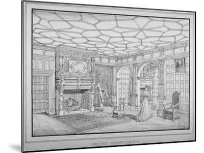 Interior View of First Floor Room of No 47 Lime Street, City of London, 1875-George H Birch-Mounted Giclee Print