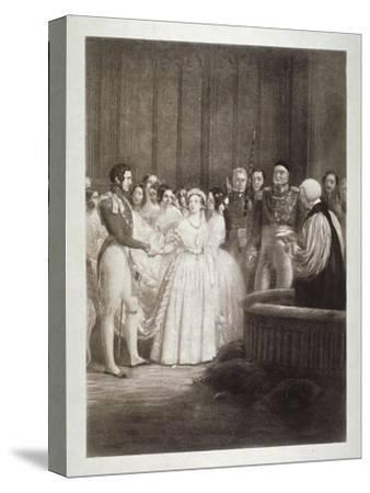 Marriage of Queen Victoria and Prince Albert, St James's Palace, Westminster, London, 1840-George Hayter-Stretched Canvas Print