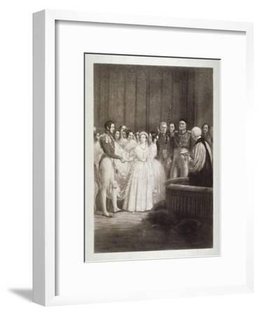 Marriage of Queen Victoria and Prince Albert, St James's Palace, Westminster, London, 1840-George Hayter-Framed Giclee Print