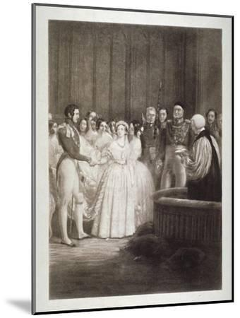 Marriage of Queen Victoria and Prince Albert, St James's Palace, Westminster, London, 1840-George Hayter-Mounted Giclee Print