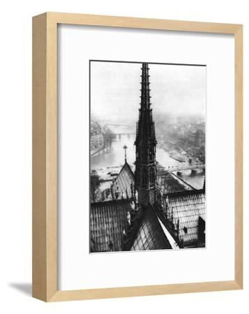 The Spire of Notre Dame Seen from the Towers, Paris, 1931-Ernest Flammarion-Framed Giclee Print