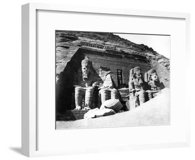 The Temple of Abu Simbel, Nubia, Egypt, 1878-Felix Bonfils-Framed Giclee Print