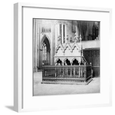 Monument of Walter De Grey, York Minster, York, North Yorkshire, Early 20th Century-George Washington Wilson-Framed Giclee Print