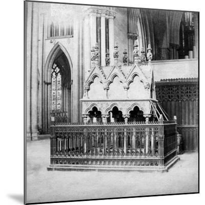 Monument of Walter De Grey, York Minster, York, North Yorkshire, Early 20th Century-George Washington Wilson-Mounted Giclee Print