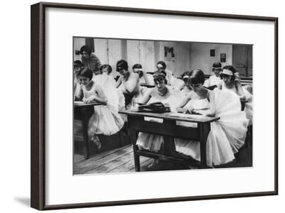 School of Young Dancing Girls at the Opera, Paris, 1931-Ernest Flammarion-Framed Giclee Print