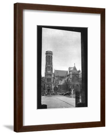 Front and Porch of St Germain L'Auxerrois, Paris, 1931-Ernest Flammarion-Framed Giclee Print