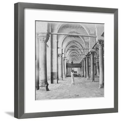 Colonnade, Cairo, Egypt, Late 19th or Early 20th Century-G Lekegian-Framed Giclee Print