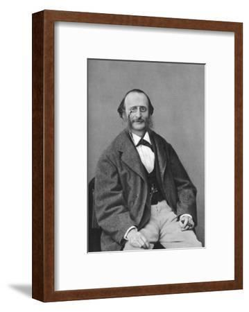 Jacques Offenbach (1819-188), German-Born French Composer, Cellist and Impresario of the Romantic-Felix Nadar-Framed Giclee Print