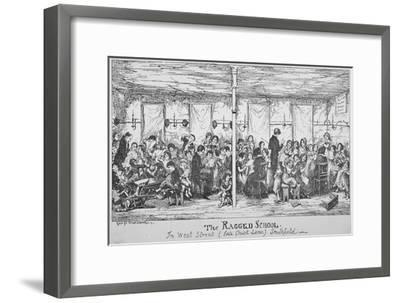 Field Lane Ragged School, Smithfield, City of London, 1850-George Cruikshank-Framed Giclee Print